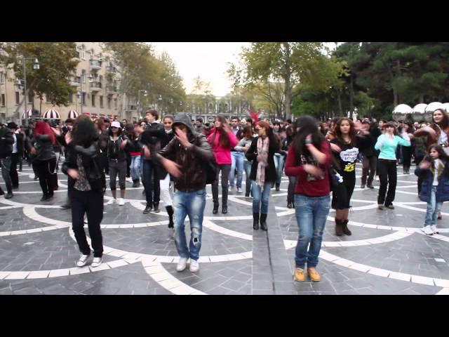 MADAGASCAR Flashmob in Baku FLASHMOB Azerbaijan Танец на улицах Баку