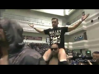 FINN BALOR AKA PRINCE DEVITT ENTRANCE WITH BULLET CLUB 2014
