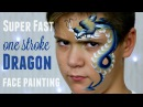 One Stroke Chinese Dragon Fast Easy Face Painting Tutorial