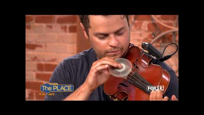FIDGET SPINNER Violinist Plays Shape of You on Live TV