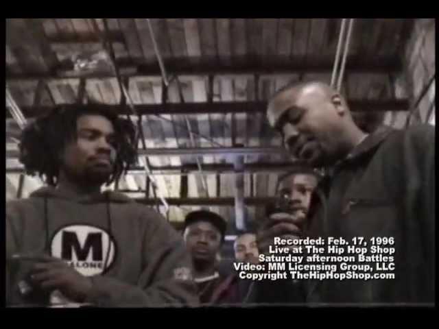 Eminem Vs Kuniva at the Hip Hop Shop (Original Un-copied Video)