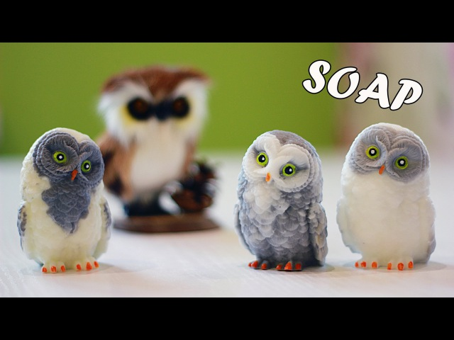 Новогоднее мыло Сова 3D ❄ Мастер-класс ❄ Рисуем красивые глаза ❄ Soap making