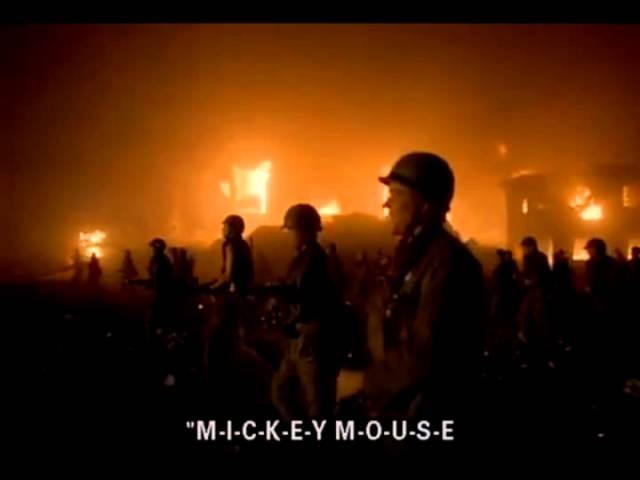 Full Metal Jacket - Mickey Mouse Club March song for 10 Minutes (edited version)