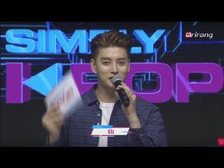[VK]  Simply K-Pop (MC Eli from U-KISS)  - TEEN TOP, HYOYEON, GFRIEND, MONSTA X, BTOB, LABOUM, Lovelyz, ASTRO, D