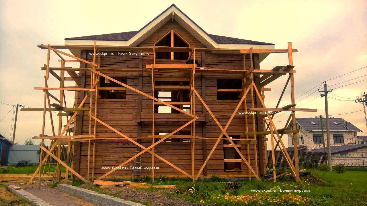 Дом из бруса в Пегелево