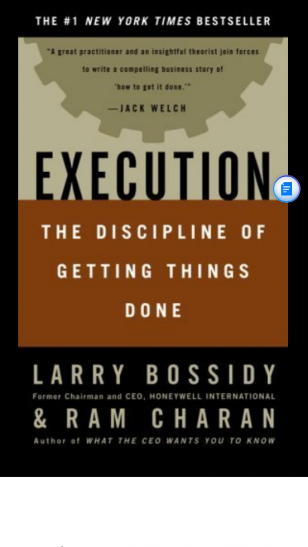 Execution discipline of getting things done