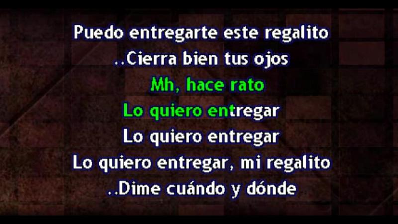 Juanes El regalito karaoke