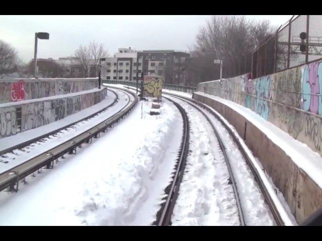 ᴴᴰ R42 J Train RFW Footage - Jamaica Center-Broad Street with Snow
