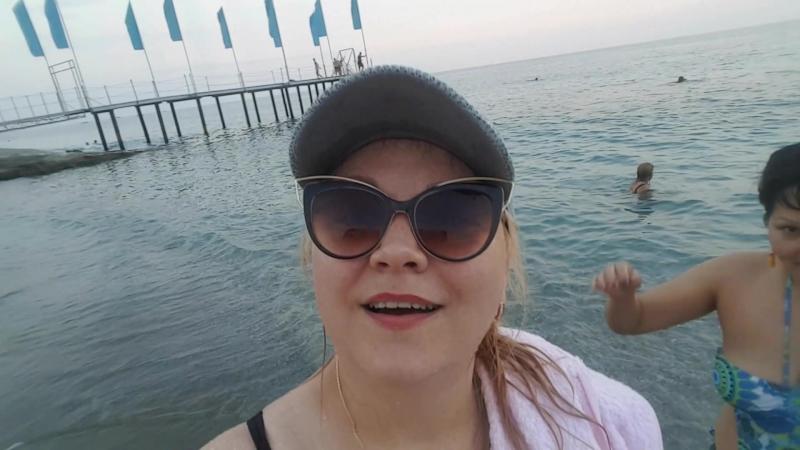 Пошли вечером на море🌊🌊🌊👍👍👍 средиземное море пляж аланья пошливотрыв @ Drita Hotel20170806 224406