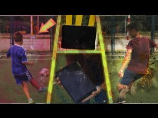 Уничтожение айпада | ipad free kick challenge на наказание