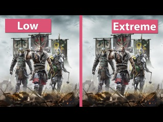 4K UHD | For Honor  PC Low vs. Extreme Graphics Comparison