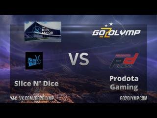 Dota 2: Prodota Gaming vs Slice N' Dice, The Kiev Major, EU, Открытые Квалификации