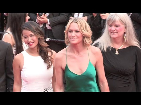 Director Robin Wright and more on the red carpet for the Premiere of Nelyubov in Cannes