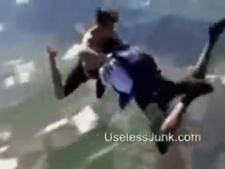 . Прыжок без парашюта ебать он же псих нахуй! Jumping without a parachute! crazy,