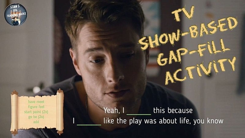 TV show based gap fill activity more