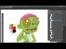 Draw in Photoshop, sketch Zombie рисуем в фотошопе зомби