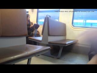 Flashing Dick in Train