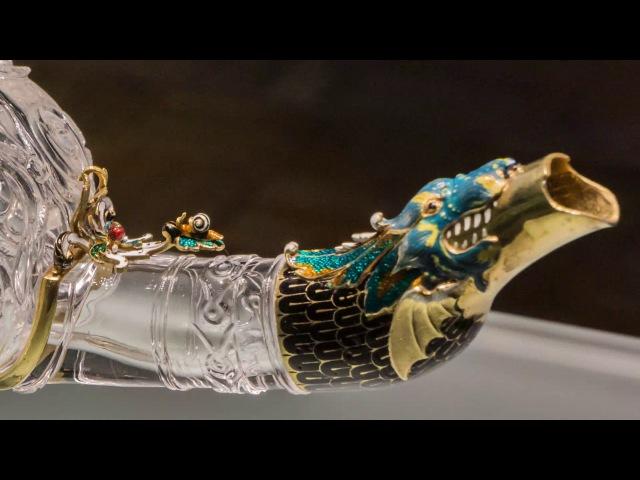 Лампа из горного хрусталя в золотой оправе Шедевр ювелирного искусства Востока и Запада