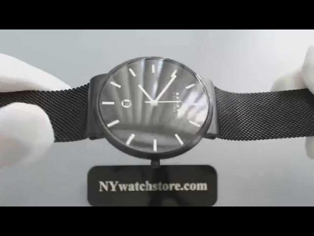 Mens Black Skagen Ancher Mesh Band Watch SKW6053