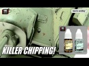 How to create realistic chipping effects on model tank VMS Chip Nick tutorial