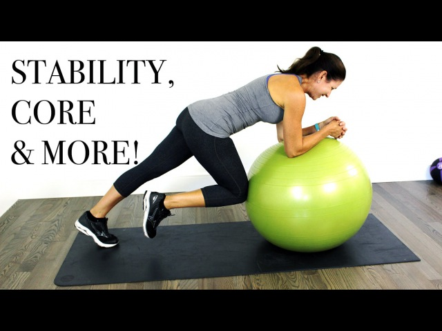 CORE MORE Stability Ball WORKOUT - Intermediate Level