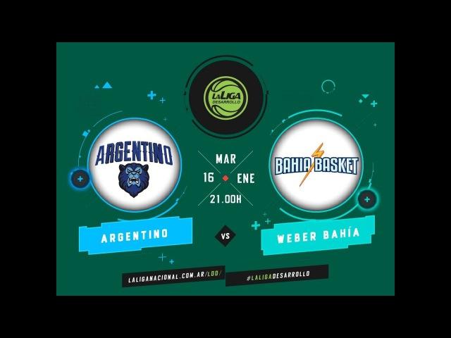 LaLigadeDesarrollo 16 01 2018 Argentino de Junín vs Bahía Basket