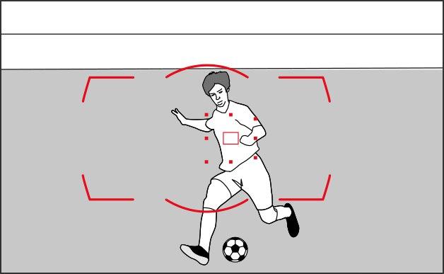 Спортсмен быстро перемещается в видоискателе — в ручную быстро сложно выбрать точку самому!