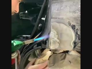 Лужение заднего кpыла на Toyota Land Cruiser Prado/