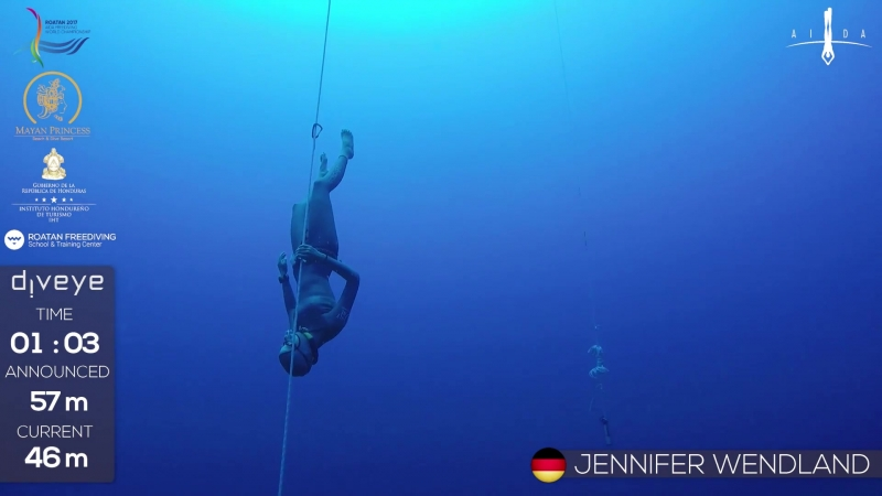 AIDA WCh Roatan 2017 Jennifer Wendland CNF BRONZE NR