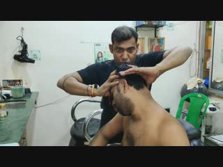 Neck pain relief tok-sen massage therapy by indian barber ¦ hair cracking, neck cracking ¦ asmr