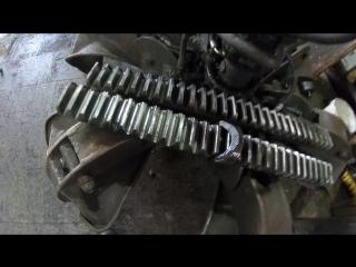 ВЕЛМАШ ОМТ-97М, сняли колонну манипулятора для замены её, зубчатых реек и подшипника. #Ломовоз-#КАМАЗ #