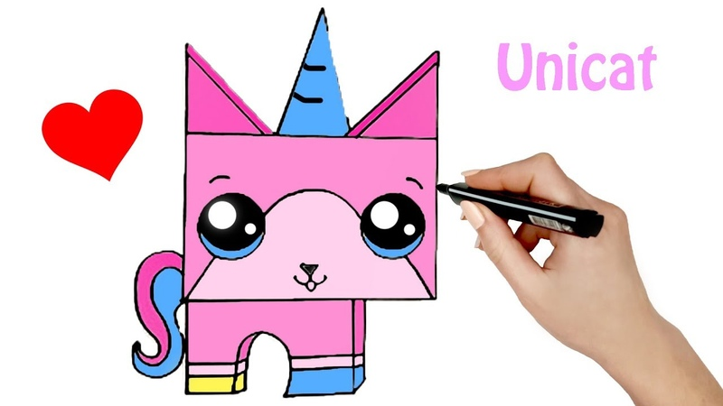 How to Draw a Unicat Lego Movie ♥ Unicat Lego Movie Coloring Pages ♥ Drawing for Kids