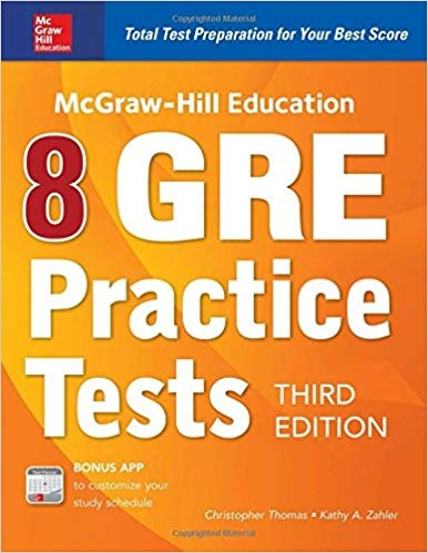 McGraw-Hill Education 8 GRE Practice Tests, 3rd Edition