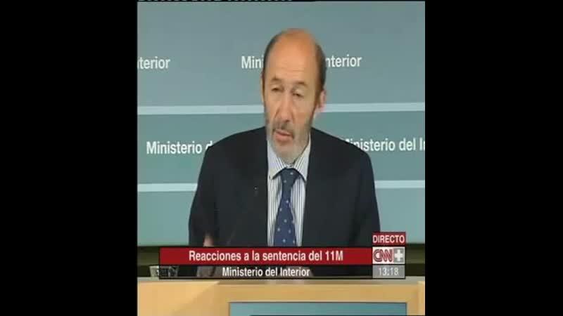 RUBALCABA tras la sentencia del autoatentado 11M en Madrid Leed entre líneas de lo que dice