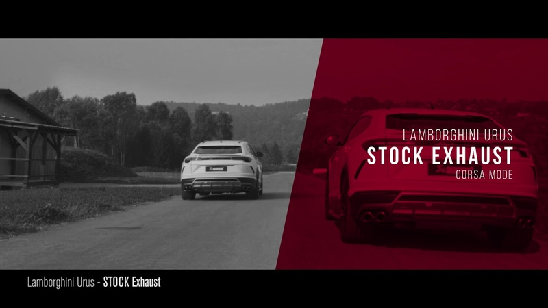 Accessori Originali Urus Akrapovic Racing Exhaust Comparison