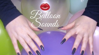 ASMR Balloon sounds🎈blowing up🎈, deflating, tapping, scratching, popping w/natural long nails