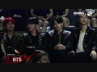 181214 bts reaction to roy kim's performance @ 2018 mama in hong kong