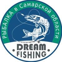 "Логотип Рыбалка в Самарской области ""DREAM FISHING"""
