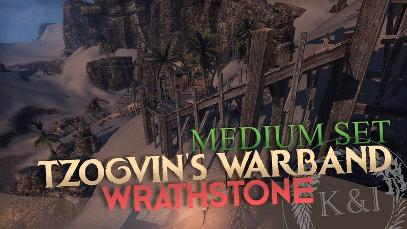 ESO Tzogvin's Warband Medium Set Wrathstone PTS