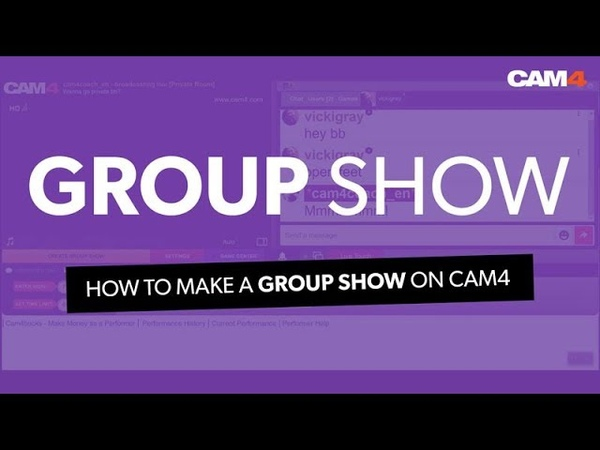 How To Set Up A Group Show On CAM4
