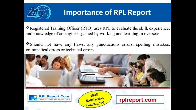 RPLReport.com provides RPL ACS Project Report Writing