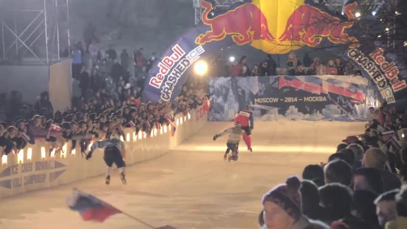 Чемпионат мира по скоростному спуску на коньках Red Bull Crashed Ice Тест видео Canon S120 Veryvery