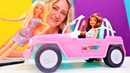 Oyuncak videoları. Barbie jeep ile safariye gidiyor