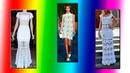 PLETENA MODA.Белое ажурное платье crochet