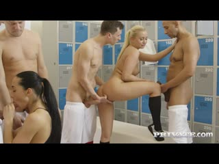 Ana Rose  Cayla Lyons - Ana Rose And Cayla Lions In Locker Room Orgy ()_720p