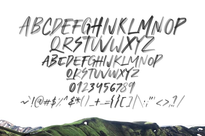 Flohart Svg Brush Font.zip