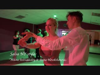 Salsa NY style. Nikita Antsukhskiy & Anna Novokshonova    Dance Studio 25.5