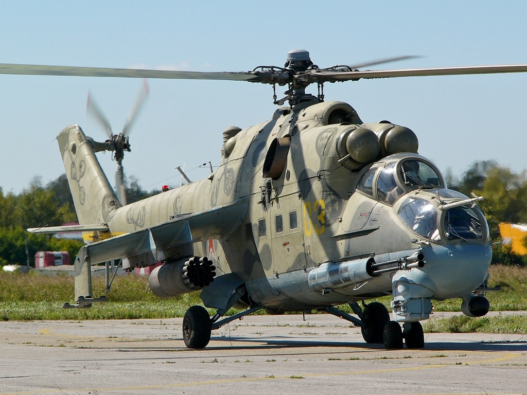 Обои ГШ-30К, ВВС Нигерии, Модернизированный вариант Ми-24, Ми-35П, Ударный вертолёт, экспортный вариант Ми-24П. Авиация foto 7