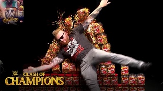 #My1 Heath Slater shatters wall of Skittles on WWE Watch Along: Clash of Champions 2019