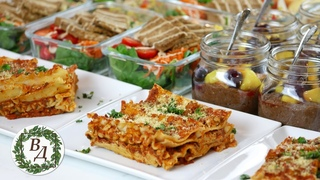 Заготовка Веган Еды на Неделю (Чиа Пудинг, Итальянская Лазанья и Тофу с Овощами)